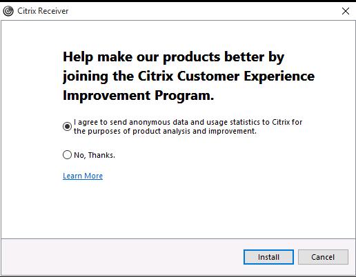 Installing Citrix Receiver On Windows - RapidScale Support